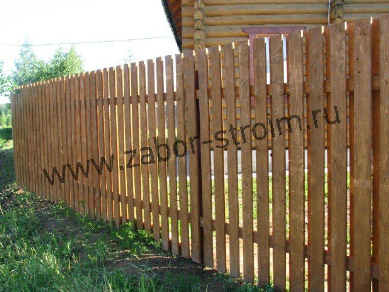 Забор своими руками из дерева фото